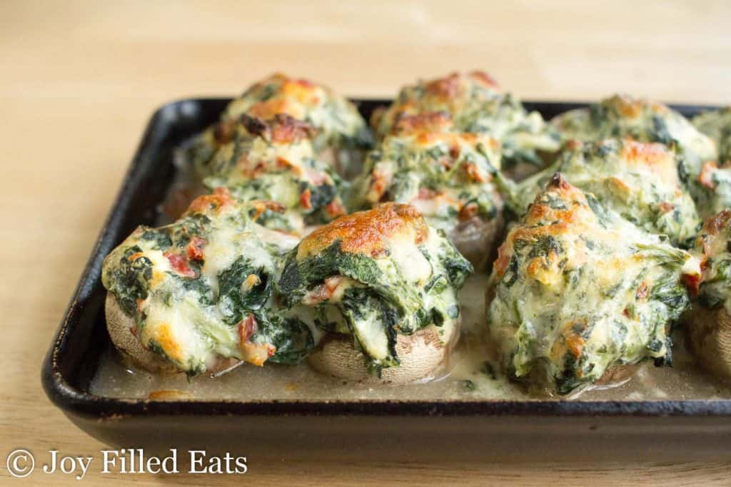 Keto Stuffed Mushrooms with Spinach